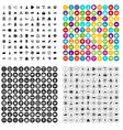100 partnership startup icons set variant vector image vector image