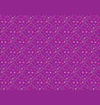 3d purple seamless pattern of rhombuses and square vector image
