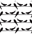 A silhouette of birds on a wire vector image vector image
