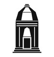 asian temple icon simple style vector image