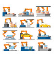 automation industrial process elements set vector image vector image