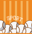 baseball balls equipment vector image vector image