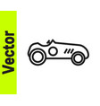 black line vintage sport racing car icon isolated vector image vector image