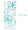 blue line art flowers vertical frame seamless vector image vector image