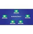 bureaucracy concept step vector image vector image
