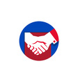 Business Deal Handshake Circle Retro vector image vector image