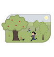 cartoon children playing in park vector image vector image