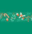 christmas border seamless vector image vector image