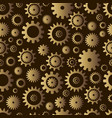 cogwheel seamless pattern steampunk style vector image