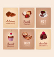 collection of colorful banners with delicious vector image vector image