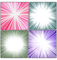 colorful comic explosive backgrounds composition vector image