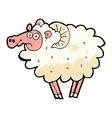 comic cartoon dirty sheep vector image vector image