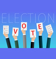 concept voting vector image vector image