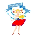cute cartoon Oktoberfest girl vector image vector image