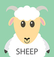 Cute white sheep cartoon flat icon avatar vector image vector image