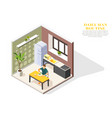 daily routine isometric composition vector image vector image