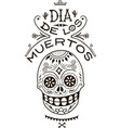 death day mexico skull vector image