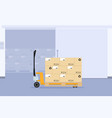 design of a manual forklift vector image vector image