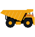 dump truck icon isolated on white background vector image