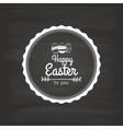 Easter label vector image