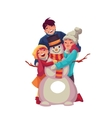 Family portrait of father mother and daughter vector image vector image