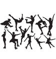 Figure skating silhouette