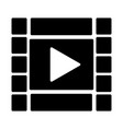 film strip with play button icon video symbol vector image vector image