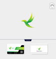 flying bird logo template free business card vector image vector image