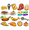 Food and dessert vector image vector image