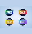 free sale new and best round badges banners vector image