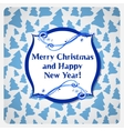 Greeting christmas card with watercolor frost vector image vector image