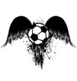 grunge football with wings vector image vector image