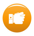 hand greed icon orange vector image