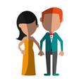 happy couple relationship vector image vector image
