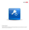 house key icon - 3d blue button vector image vector image