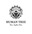 human tree logo designs inspirations vector image vector image