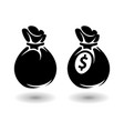 icons money bag vector image