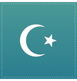Islam flat icon vector image vector image
