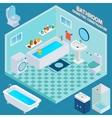 Isometric Bathroom Interior vector image