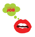 lips looking job color vector image vector image