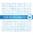 Media icon set High vector image vector image