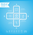 medical health and healthcare icons vector image
