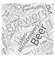 Microbrewery And America Word Cloud Concept vector image vector image