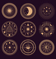 mystic circle symbols set vector image