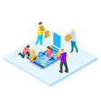 online shopping and home delivery isometric vector image vector image