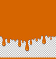 orange dripping slime seamless element vector image