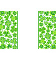 patrick day background with green shamrock vector image