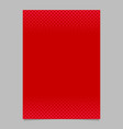 red abstract halftone geometrical dot and square vector image vector image