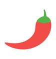 red chilli pepper spicy mexican food vector image