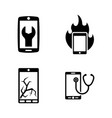 repair service phone simple related icons vector image